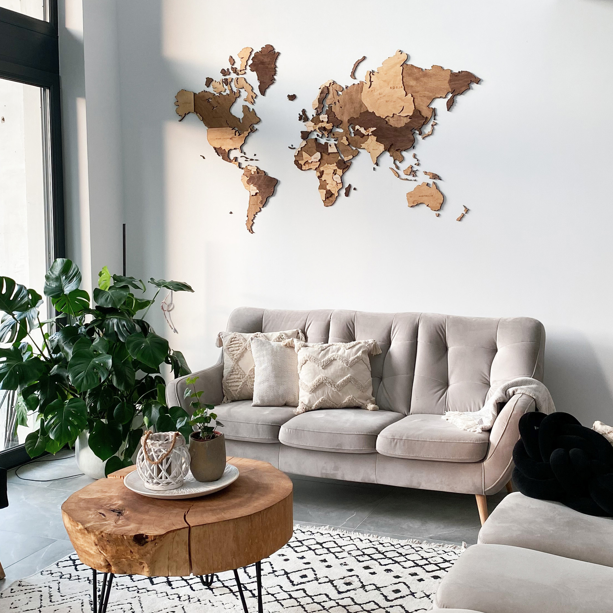 drewniana mapa 3d