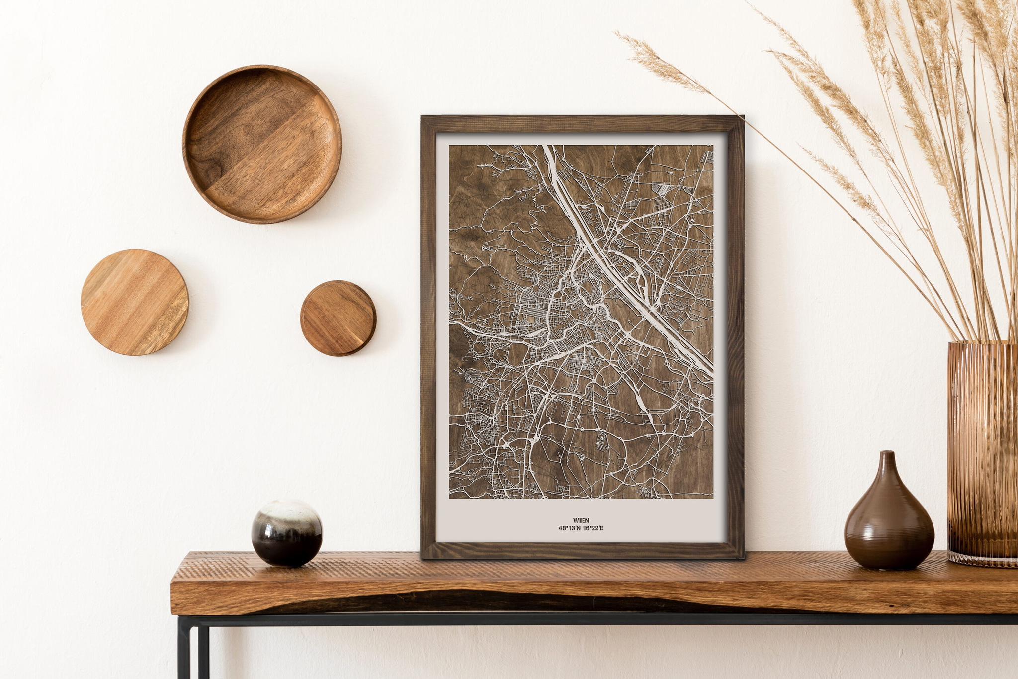drewniana mapa wiednia