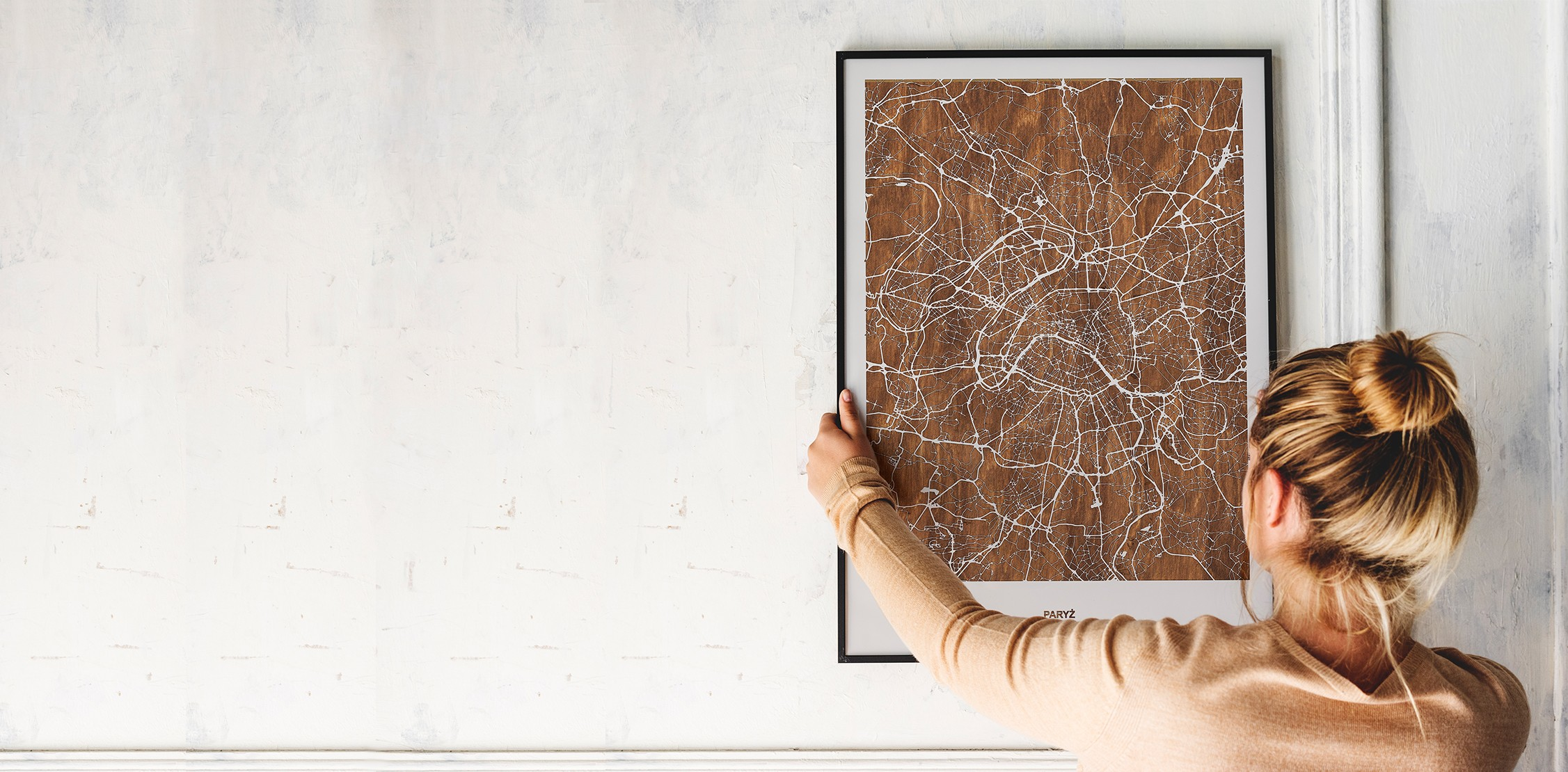 DREWNIANE MAPY WYBRANEGO MIASTA